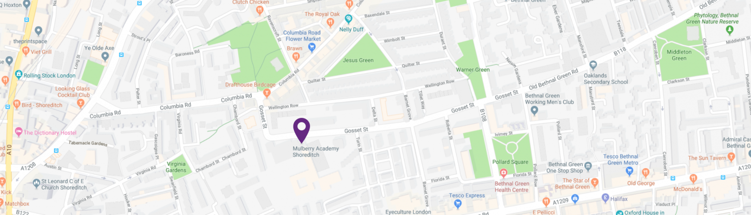 Contact Details/Map - Mulberry Academy Shoreditch